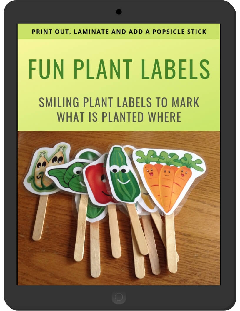 Fun Plant Labels on iPad