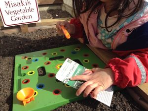 Removing seeds from seed packet