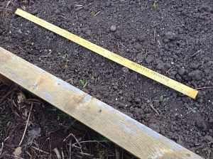 marking rows with yardstick