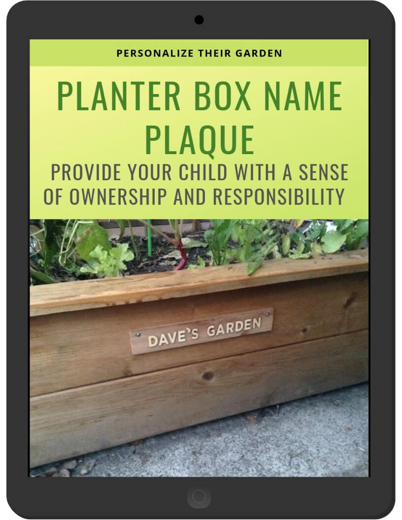 Planter Box Name Plaque on iPad