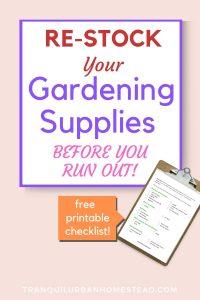 restock gardening supplies