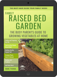 Family Raised Bed Garden eBook on iPad