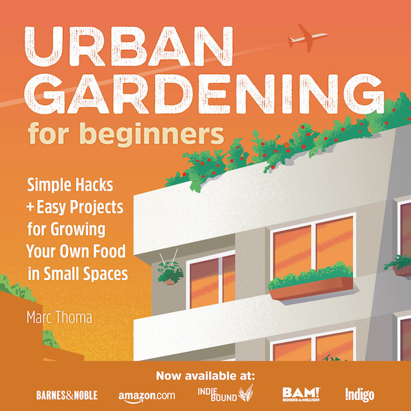 urban gardening for beginners book cover