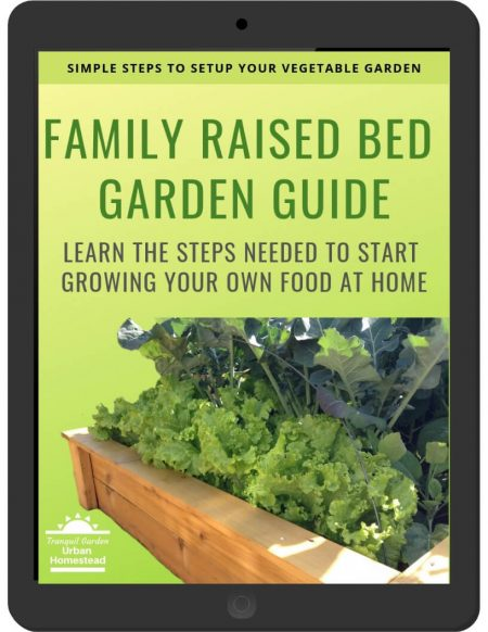 Family Raised Bed Garden Guide on iPad